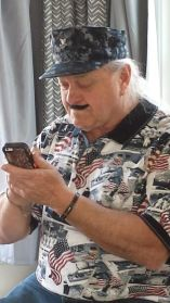 papa taking a selfie